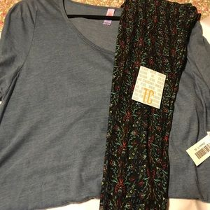 Lularoe Outfit XL Classic T and TC Leggings ❤️